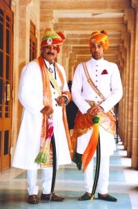 HH Maharaja Shri GAJ SINGH Ji along with Yuvraj Shivraj Singh