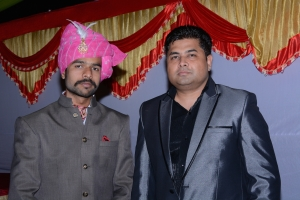 Kunwar Love Pratap Singh (left) with a family member