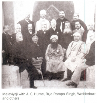 Malaviyaji with A.O. Hume, Raja Rampal Singh, Wedderburn and others.