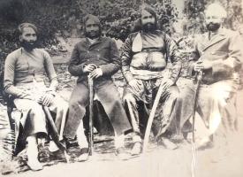 Salumber Rao Saheb Onar Singh Ji along with Kalyanpur Thakur Sab Chatar Singh Ji