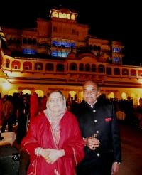 Raja & Rani Pushpendra Singh Kama at City Palace, jaipur