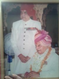 Raja Col. Himmat Singh Kama at Dushara festival, City Palace Jaipur