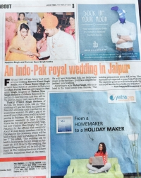News cutting of Kumari Padmini's upcoming wedding