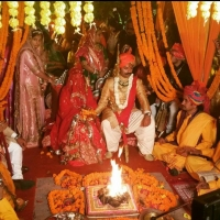 Wedding ceremony of Padmini Kanota and Karni Singh Sodha of Amarkot (Kanota)