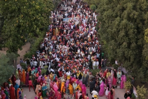Baraat procession of Kunwar Karni Singh Sodha of Amarkot for his wedding with Kumari Padmini Kanota (Kanota)