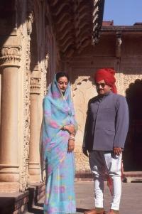 H.H Maharaja Krishna Chandra Pal and Maharani Rohini Kumari of Karauli