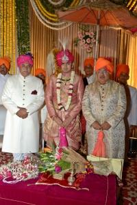 Rajkumar Ratnakar Singh Raikwar ,Yuvraj Vivasvat Pal and Maharajah Krishna Chandra Pal (Karauli)