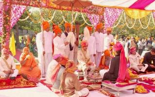 Tilak ceremony of Yuvraj Vivasvat Pal of Karauli (Karauli)