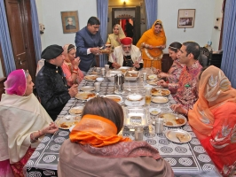 Dinner hosted at Karjali House for Shriji on the occasion of Banola of Lakshyaraj Singh Mewar