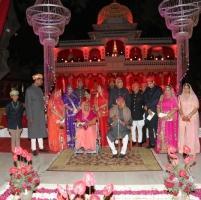 Maharaj sahib Karan Singhji with his family members a month before his demise on 21st February 2014
