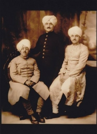 Raja Rana Sir Bhagat Chand (KCSI) of Jubbal State, with Uncles Raja Himendra Sen of Keonthal State, and H.H.Maharaja