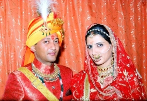 Raja AKSHAY BIKRAM SHAH with wife.