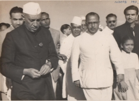 Th. Narayan Singh ji with Pandit Jawahar Lal Nehru