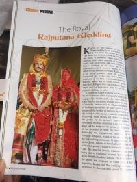 Wedding pictures of Baisa Radhika Singh Parmar Kila Amargarh with Kr. Mahipat Singh Bhati of Bhanwari wedding in Wedding Affair magazine