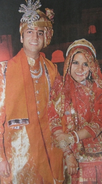 Princess Vaishnavi Kumari married to HH Prince Kumar Saheb Padmanabh Singhji of Gondol