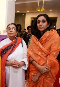 Rajkumari Priti Singh Kuchaman & Kanwarani Priyanjali Katoch of Lambargaon Kangra