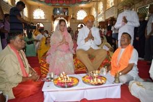 HH Pragmalsinh Jadeja and Rajmata Priti Devi