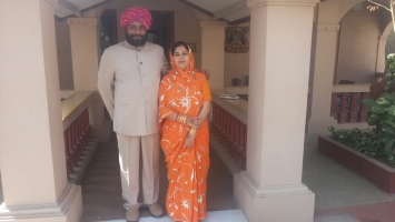Pratapsinh Jadeja with Shalini Devi of Kutch