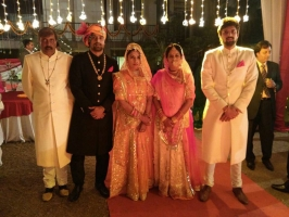 Kunwar Yudhishter Pal with family, wife Kunwarani Shalini Pal and sons Kr. Abhimanyu Pal and Kr. Akshay Pal with wife Kunwarani Brinda Singh
