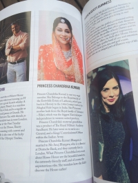 Princess Chandrika Kumari featured in a London magazine