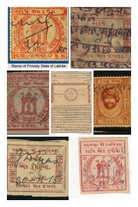 Stamps of Princely State of Lakhtar