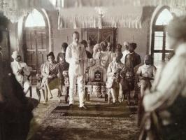Thakore Sahib Shri Indrasinhji In Darbar Hall With his younger brother Rajkumar Juwansinhji & Rajkumar Kishorsinhji
