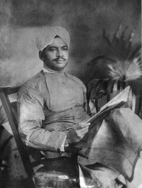 "Real photo of Sursinhji Gohil ""Kalapi "" A poet -Gujarat"