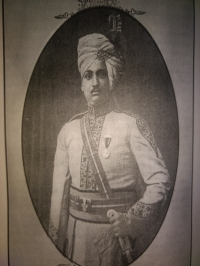 H.H.T.S. Digvijaysinhji Daulatsinhji dressed in Imperial Cadet Corps Dress.