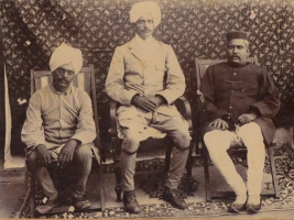 Captain Thakur Shiv Varan Singh with friends