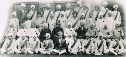 Captain Thakur Shiv Varan Singhji (First Row Standing - Fourth from the left) at Kshatriya Conference