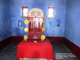 Divine Altar & Throne of Presiding Deity - Om Mata Singhabahini