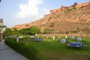 Palace Lawns overlooking the Fort
