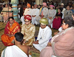 HH Maharaja Yaduveer Krishnadatta Chamaraja Wodeyar adopted as the head of the Mysore royal family