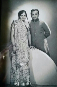 HH Maharaja Mahendra Singh with his first wife HH Maharani Jaswant Kumari