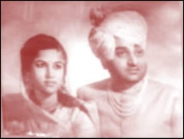 Maharaja Mahendra Singh and his second wife Maharani Shyam Kumari Ji