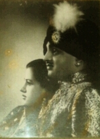 Maharaja Mahendra Singh and his second wife Maharani Shyam Kumari