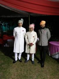 Thakur Saheb Keshav Singhji Namli with Raja Saheb Raghuveer Singhji Multhan and Ranjit Singh Namli