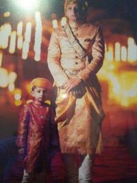 Thakur Saheb Ranjit Sinhji With Kuwar Jyotiraditya Sinhji