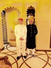 Maharaj Dalwant Singh Ji Netawal with his grandson Bhanwar Devwrat Singh Netawal