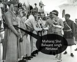 Queen Elizabeth II with Maharaj Balwant Singh Netawal