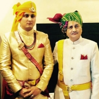 Raja Jayant Chandra Mardaraj Harichandan with Yuvraj Janmejay Chandra Mardaraj Harichandan