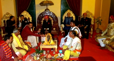 Tilak Ceremony of Yuvraj Janmejay Chandra Mardaraj Harichandan at Nilgiri on 9th December 2016