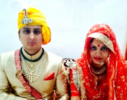 Yuvraj Janmejay Chandra Mardaraj Harichandan and Yuvrani Harshita Singh of Nilgiri