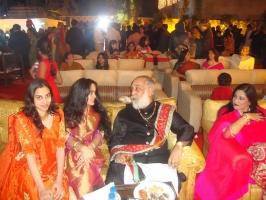 Kumari Aakriti and Kumari Prakriti of Nilgiri with Arvind Singh ji of Mewar