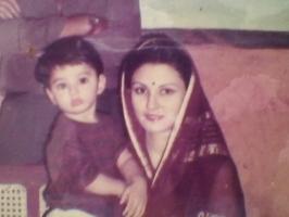 Rani Manojmanjari Devi with Yuvraj Janmejay
