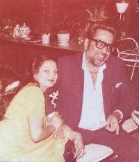 Late H.H. Shivendra Sinhji with Rajmata Sonia Devi