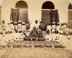 Durbar group of Thakur Sahib Sur Singh Ji in 1870