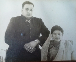 Rajkumari Gauri Devi with husband  Raja Chandrabhal Deo Singh of Rajabazar Raj, Jaunpur, UP