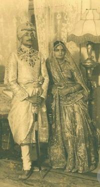 Maharaja Rajendra Narayan Singhdeo and Rani Kailash Kumari Devi