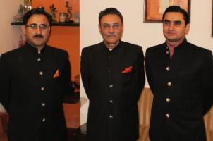 Wg.Cdr Raja Abhay Singh, RK Anirudh and RK Akshay Singh